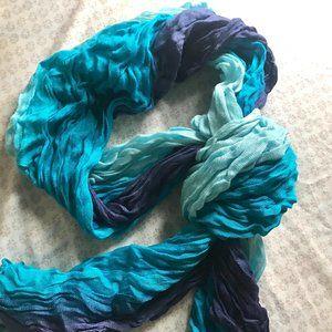 🎉FREE w/ purchase🎉 Multicolor Blue & Purple Scarf